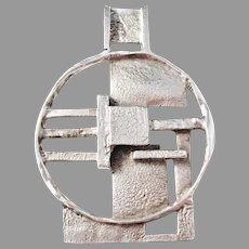 Liedholm for TreStäd, Sweden year 1972 Signed Sterling Silver Modernist Pendant