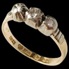 Victorian year 1883, Sweden, 18k Gold  0.18ctw Diamond Ring.
