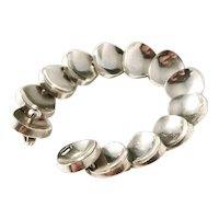 Bent Knudsen, Denmark Iconic Design 22 Massive 2.8oz Rare 1960s Sterling Silver Bracelet.
