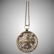 Kalevala Koru, Vintage Large Bronze Pendant Necklace.