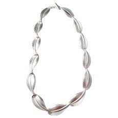 Herman Siersbøl. Denmark Sterling Silver Mid Century Necklace.