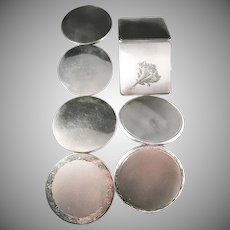 4 Solid Silver Early to Mid Century Compacts. Hallmarked. 12oz