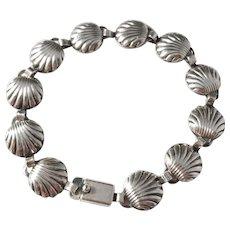 Herman Siersbøl, Denmark Mid Century Sterling Silver Bracelet.