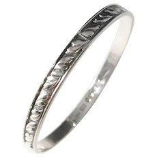 Rey Urban, Stockholm year 1959 Signed Sterling Silver Bangle Bracelet.