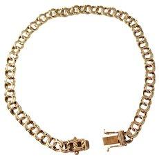 Wickholm, Sweden year 1940, Mid Century 18k Gold Bracelet. Excellent.