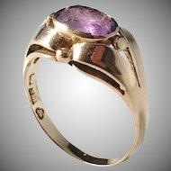 G Dahlgren, Sweden year 1933, 18k Gold Amethyst Ring.
