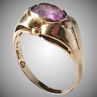 G Dahlgren, Sweden year 1933, 18k Gold Amethyst Ring.