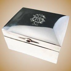 Royal Silversmith CG Hallberg year 1919 Solid Silver Jewellery Trinket Box.