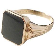 Ceson, Sweden year 1961, 18k Gold Onyx Men's Ring.