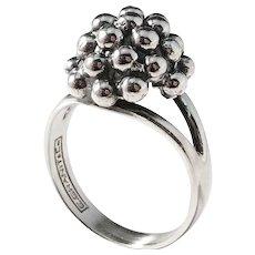 Erik Granit Finland year 1968 Sterling Modernist Ring. Excellent.