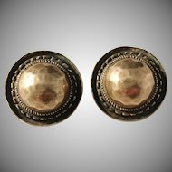 Unn Tangerud, for David Andersen Norway Vintage 1960s Clip-on Bronze Earrings.