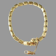 Chimento, Italy Vintage 18k Gold Diamond Tulip Bracelet. 18.6gram. Excellent.