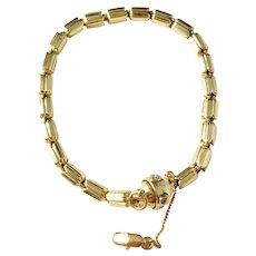 Famous Chimento, Italy Vintage 18k Gold 0.02ct Diamond Tulip Bracelet. 18.6gram. Excellent.
