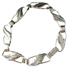 Tage Linde, Sweden year 1955, Mid Century Solid Silver Panel Bracelet.