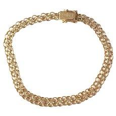 Maker Ädelsmycken, Stockholm year 1950, Mid Century 18k Gold Bracelet.