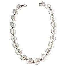 David Andersen, Oslo Norway Sterling Silver Enamel Vintage Necklace.