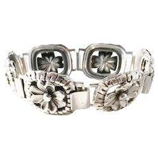 G Dahlgren, Sweden year 1953 Mid Century Solid Silver Bracelet. 1.28oz