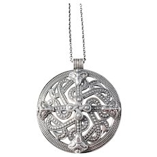 Kalevala Koru, Finland year 1966 Large Solid SIlver Pendant Necklace.