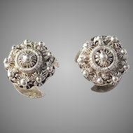 Olaus Liander, Sweden year 1823-53 Antique Solid Silver Button Studs