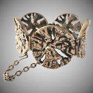 Pentti Sarpaneva Finland 1960s Massive Organic Bronze Bracelet.