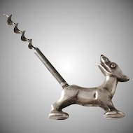 Art Deco 1920s Novelty Dog Corkscrew