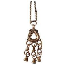 Vintage Kalevala Koru Bronze Pendant Necklace