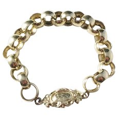Adolf Bergman, Sweden year 1849 Early Victorian Gold Washed Solid Silver Bracelet.