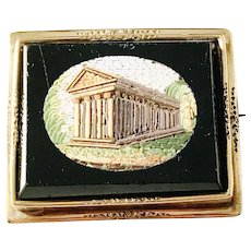 Italian Grand Tour Micro Mosaic, 18k Gold Frame by Gustaf Adolf Cedergren, Stockholm year 1852. Wow.