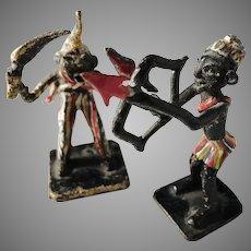 Austria c 1890 Pair of Cold Painted Bronze Miniatures. Africa.