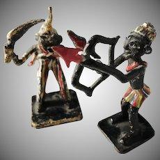 Austria c 1890 Pair of Cold Painted Bronze Miniatures. Africa.