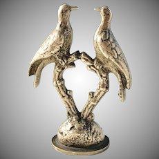 Antique Bronze Novelty Bird Wax Seal Stamp. Germany c 1900. J Widlund