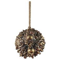 Pentti Sarpaneva Finland 1960-70s, Massive Bronze Pendant Necklace.