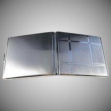 Robert Kraft, Pforzheim, Germany 1930s Art Deco Solid 835 Silver Cigarette Case. Excellent.