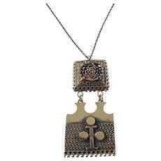 Pentti Sarpaneva Finland 1960s Massive Pendant Necklace