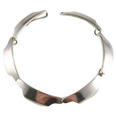 Bent Knudsen, Denmark 1960s Design no 12 Sterling Silver Link Bracelet.