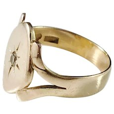 Maker Åman, Sweden Mid Century,18k Gold Ring
