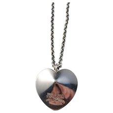 KE Palmberg for ALTON, Sweden year 1975 Sterling Silver Heart Love Pendant Necklace.