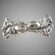 C.N Ruthenbeck, Sweden 1798-1854 Antique Solid Silver Brooch converted from two Belt Buckles.