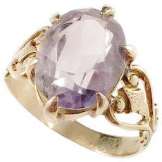 Johan Pehr Ronback, Sweden 1850-69, Victorian 18k Gold Amethyst Ring.