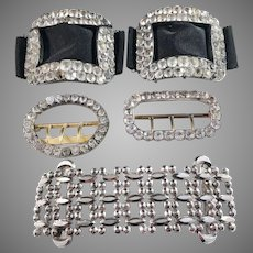 Collection Antique Victorian Belt and Shoe Buckles.