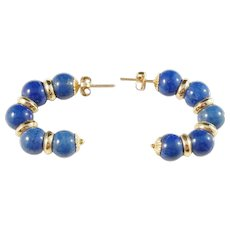 Alton, Sweden year 1968, 18k Gold Lapis Lazuli Earrings. Excellent.