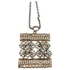 Pentti Sarpaneva Finland 1960-70s, Large Bronze Pendant Necklace.