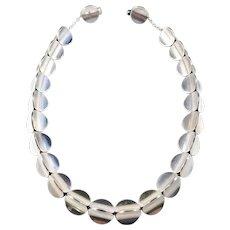 Eigil Jensen for Anton Michelsen Copenhagen 1960s Modernist Sterling Silver Necklace.