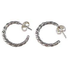 Kalevala Koru, Vintage Finland Sterling Silver Earrings.