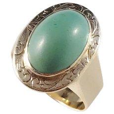 c 1890 Victorian 18k Gold Turquoise Ring