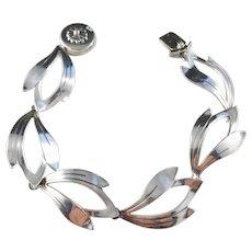 Niels Erik From, Denmark 1950s Sterling Silver Bracelet. Mid Century Excellent.