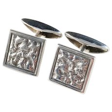 Martti Viikinniemi Finland year 1961 Modernist Solid Silver Cufflinks