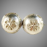 Two Georgian Buttons made by Michael Olof Barkman, Sweden year 1813-51, converted into a Small Brooch Mid Century.