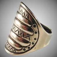 Kalevala Koru Vintage 1970s Bronze Shield Ring.