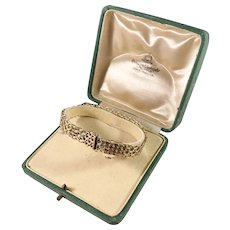 Jo'Ans Sweden 1960s Boxed 18k Gold Bracelet. Excellent.